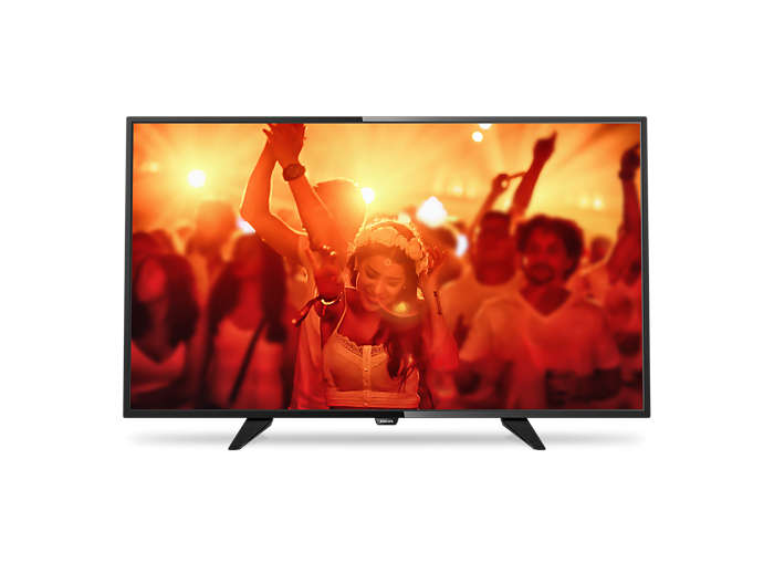 Tunn LED-TV med Full HD