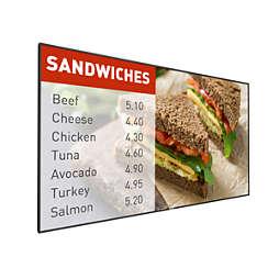 Signage Solutions P-Line zaslon