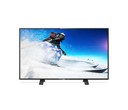 Televisor LED Full HD delgado