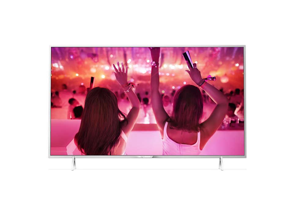 FHD ултратънък LED телевизор, поддържан от Android
