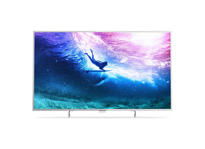 TV LED Slim 4K UHD com Android