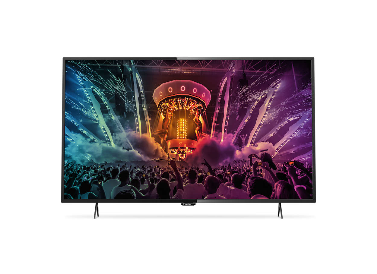 t l viseur led smart tv ultra plat 4k 49puh6101 88 philips. Black Bedroom Furniture Sets. Home Design Ideas