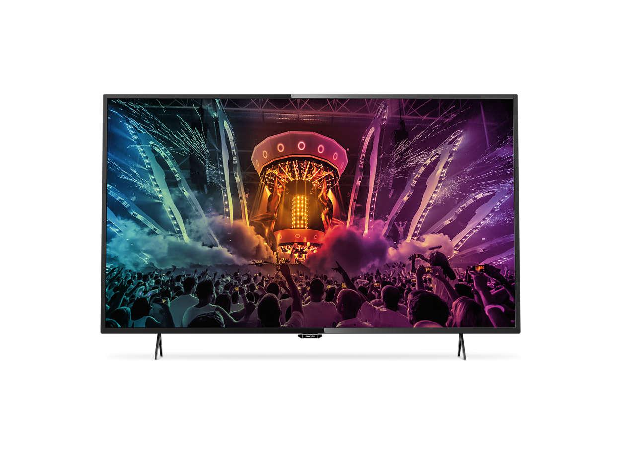 Ultra tenký LED televízor Smart TV srozlíšením4K