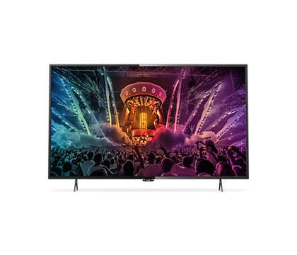 Smart, tunn LED-TV med 4K