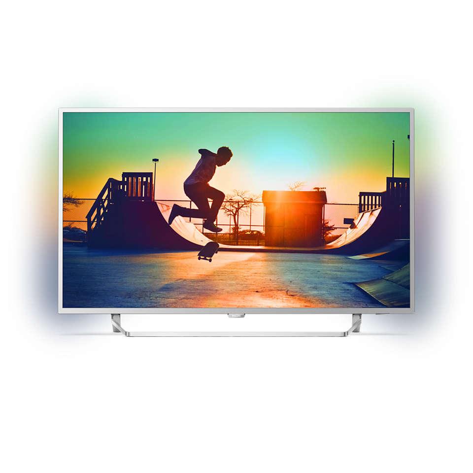 6000 series Televisor 4K ultraplano con tecnología Android TV