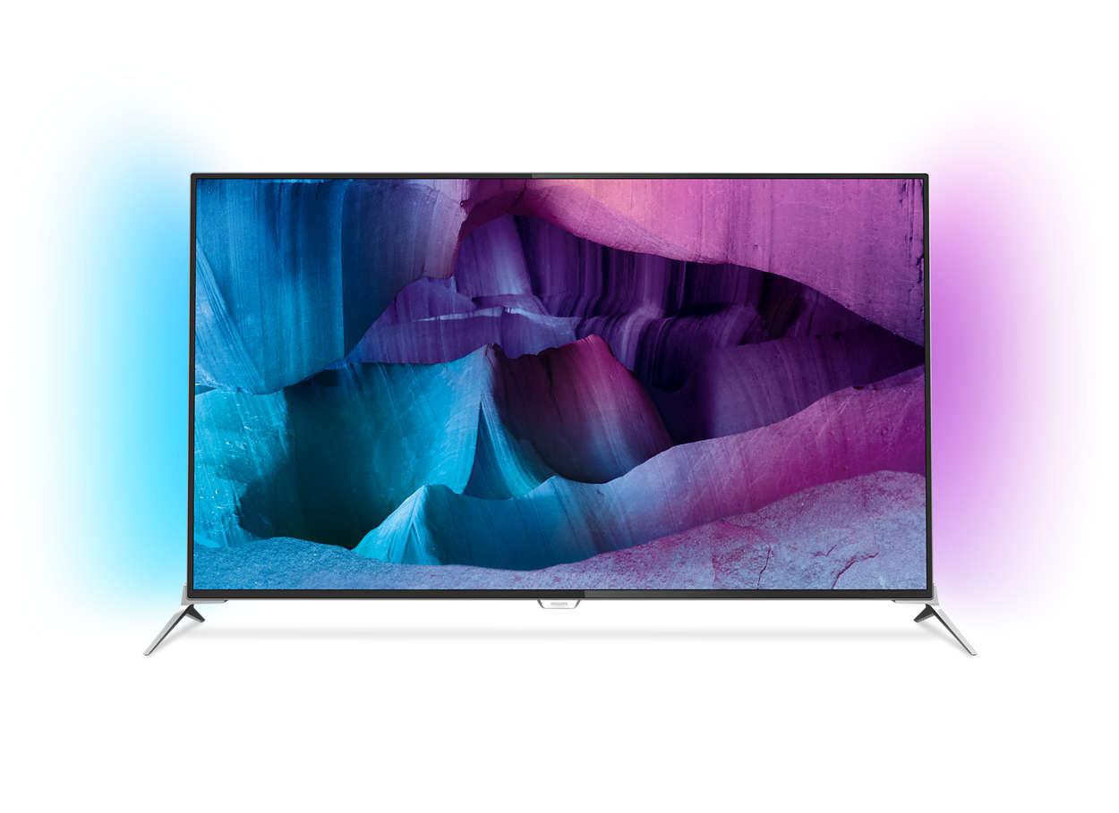 Ultratyndt 4K UHD LED-TV på Android-platform