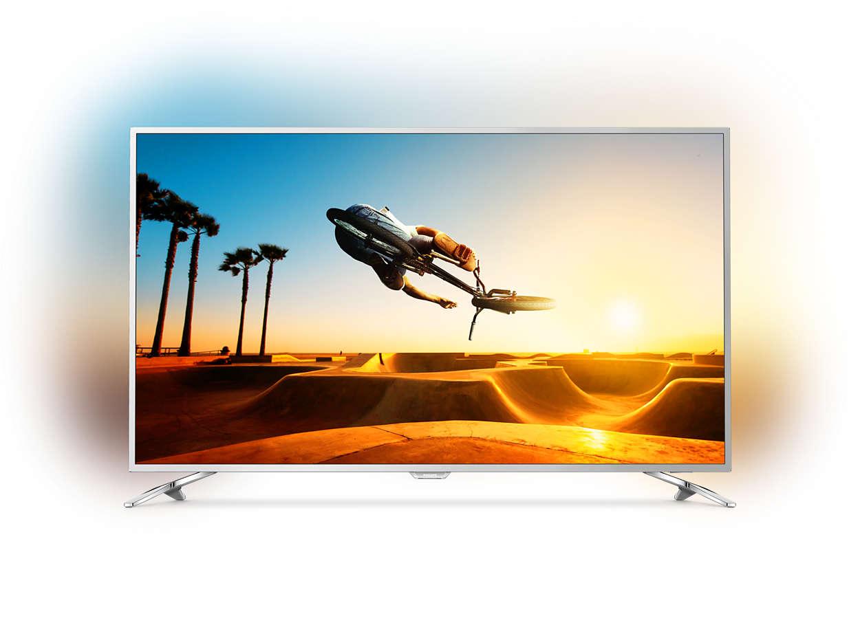 t l viseur ultra plat 4k avec android tv 49pus7272 12. Black Bedroom Furniture Sets. Home Design Ideas