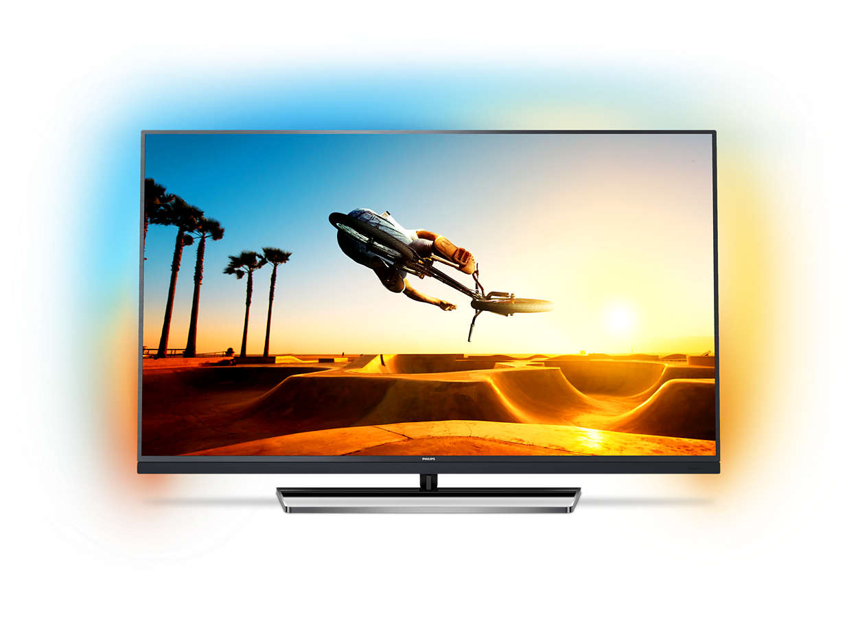 Televisor LED 4K ultra fino com Android TV