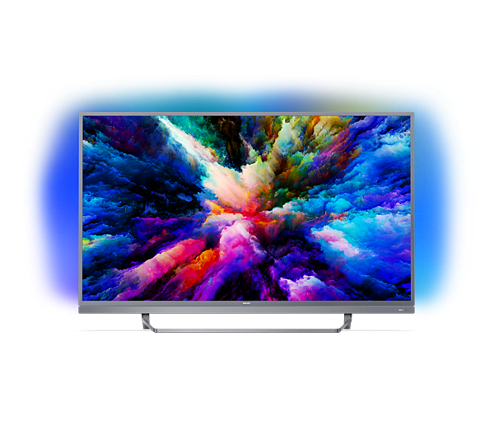 Ultraflacher 4k Uhd Led Android Fernseher 49pus750312 Philips