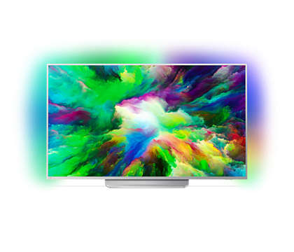 Téléviseur Android 4KUHD ultra-plat LED