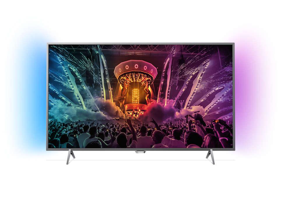 Svært slank 4K LED-TV drevet av Android TV