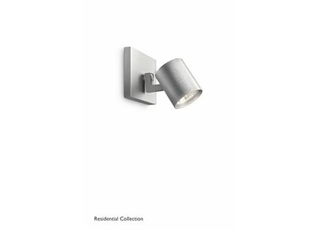 Runner single spot aluminium 1x50W 230V