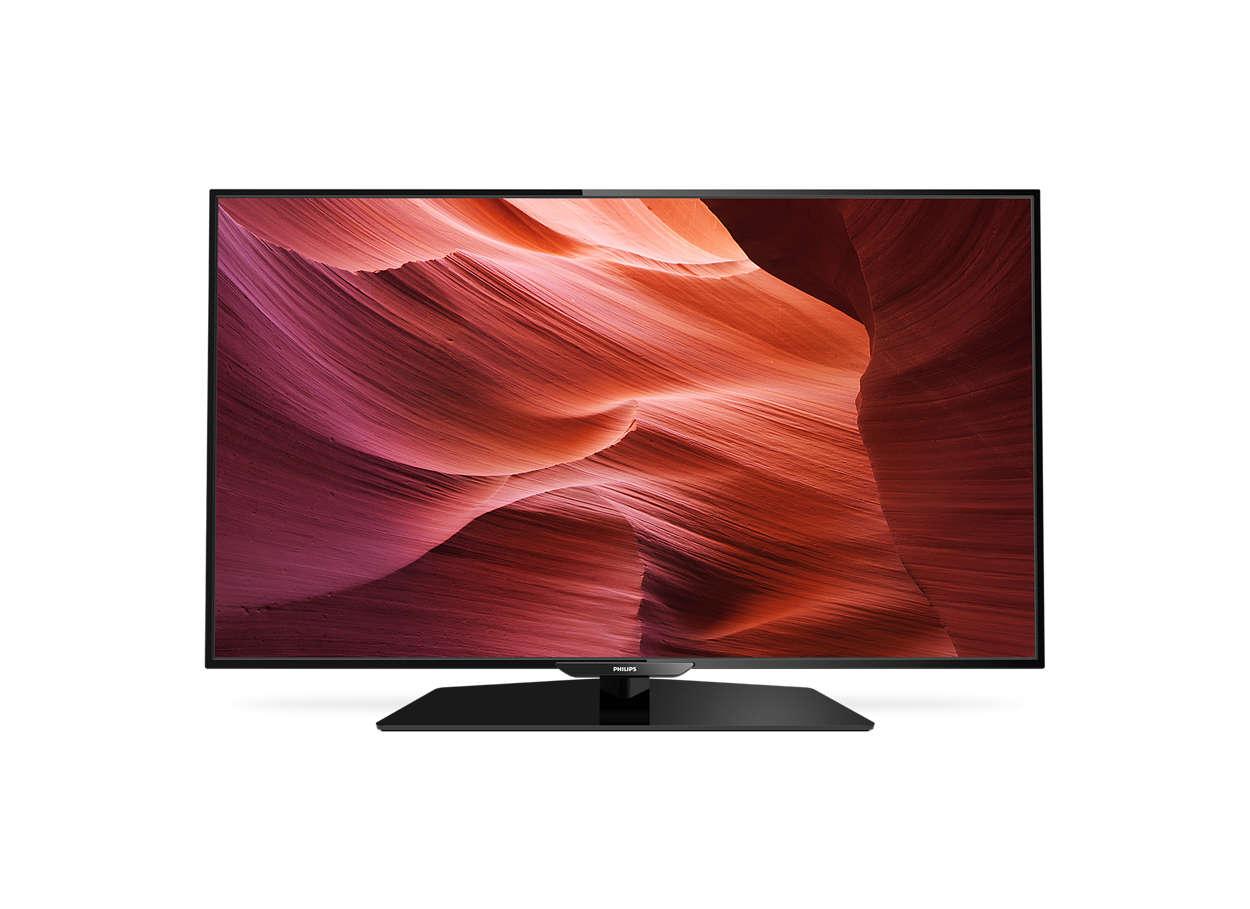 Slank Smart LED-TV med Full HD