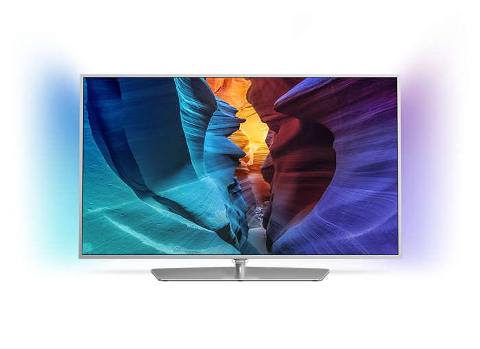 Slimmad LED-TV med Full HD och Android