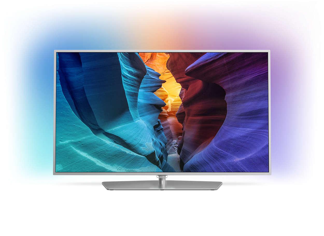 Slank Full HD LED-TV drevet av Android