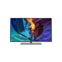 6000 series 4K UHD тънък LED телевизор, работещ под Android™