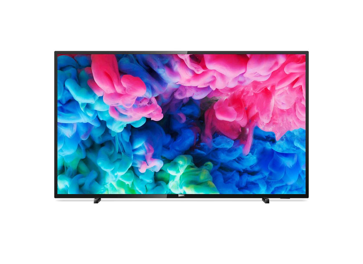 Niezwykle smukły telewizor LED Smart 4K UHD