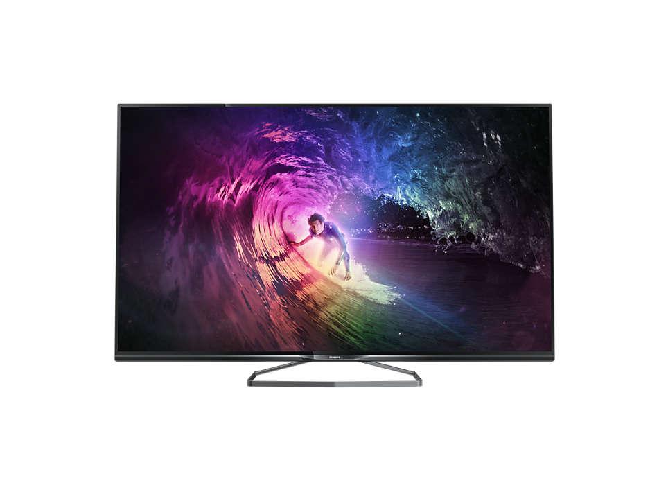 Niezwykle smukły telewizor LED 4K Ultra HD