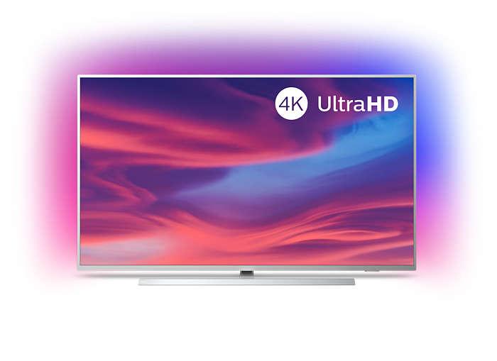 4K UHD LED med Android TV