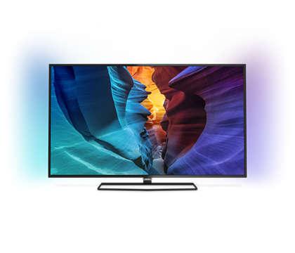 دقة 4K UHD، شاشة رفيعة، تلفزيون LED TV مشغّل بواسطة Android