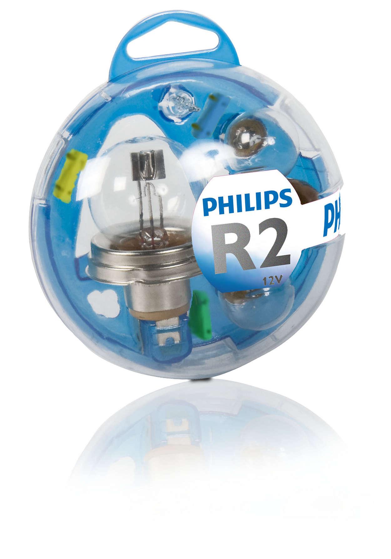 Всички необходими лампи в един комплект