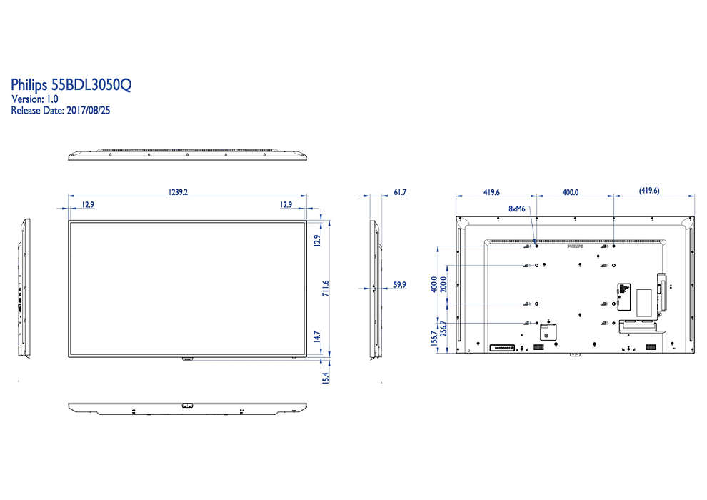 Q-Line Display 55BDL3050Q/00 | Philips