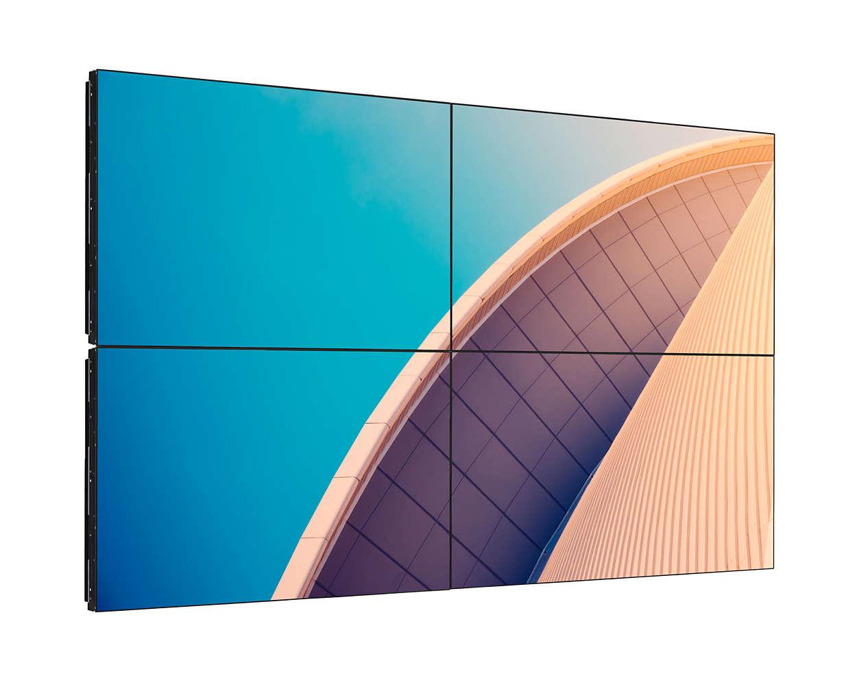 Afişaj versatil pentru pereţi video