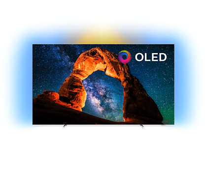 Rakbladstunn OLED-TV med 4K UHD och Android