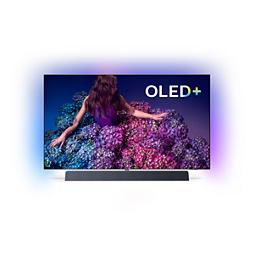 OLED 9 series 4K UHD OLED+ Android TV B&W hangzással