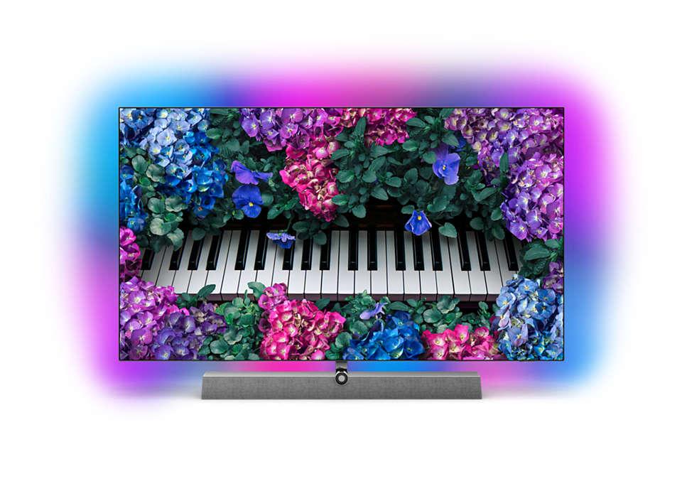 OLED+ 4K TV lyd fra Bowers & Wilkins 55OLED90312 | Philips