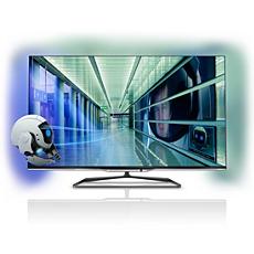 55PFL7008K/12  Ultraflacher 3D Smart LED-Fernseher