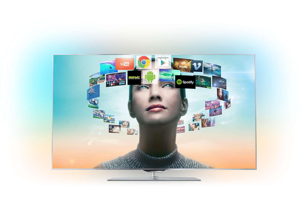 FHD TV štíhly ako žiletka sosystémom Android