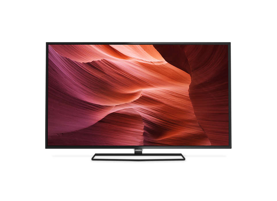 Slank Full HD LED-TV drevet av Android