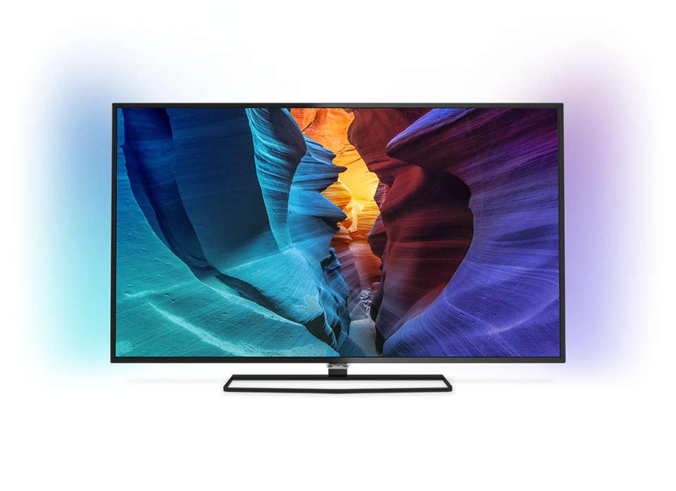 دقة Full HD، شاشة رفيعة، تلفزيون LED TV مشغّل بواسطة Android