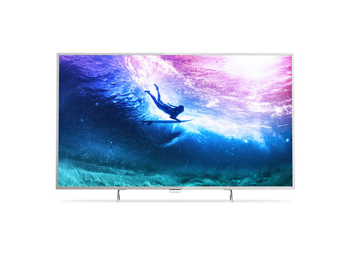 TV LED Slim 4K UHD com Android
