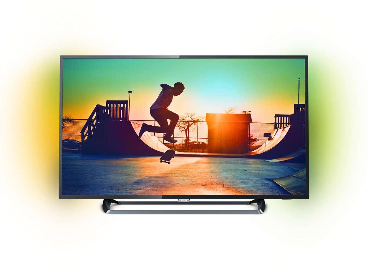 Ultraflacher 4K Smart LED-Fernseher
