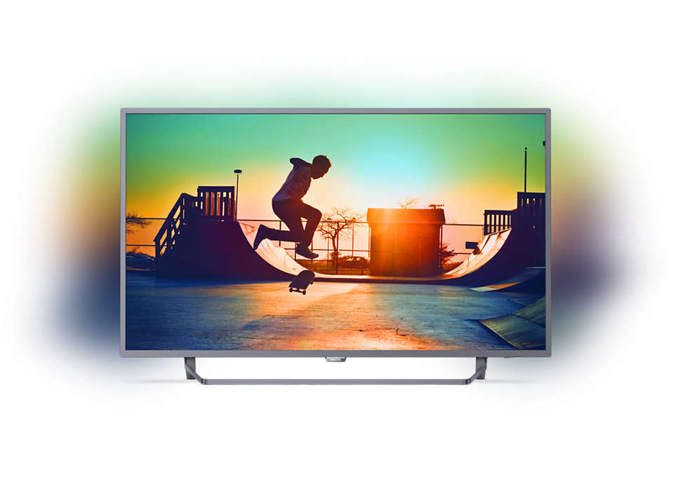 Smart, tunn LED-TV med 4K
