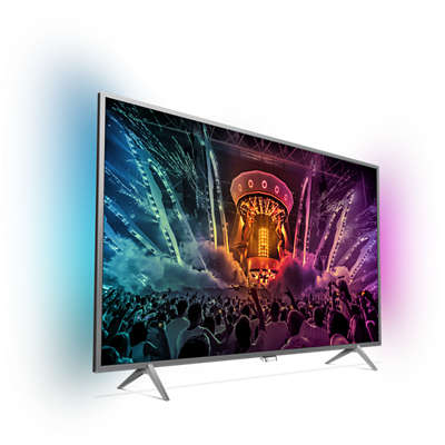 4k Ultra Slim Tv Powered By Android Tv 55pus6401 12 Philips # Table Television Ecran Plat