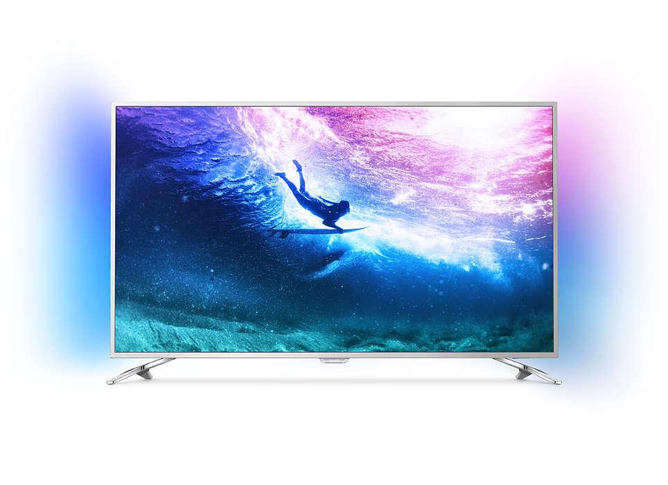 Erittäin ohut Android-4K-LED-televisio