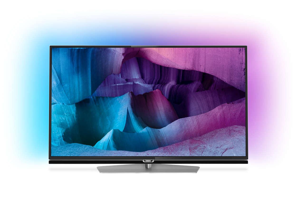Televisor LED 4K UHD ultra fino com Android