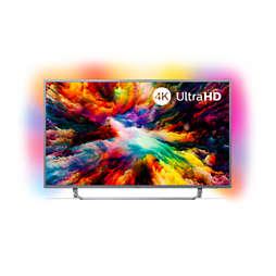 7300 series 4K UHD Android-Fernseher mit 3-seitigem Ambilight