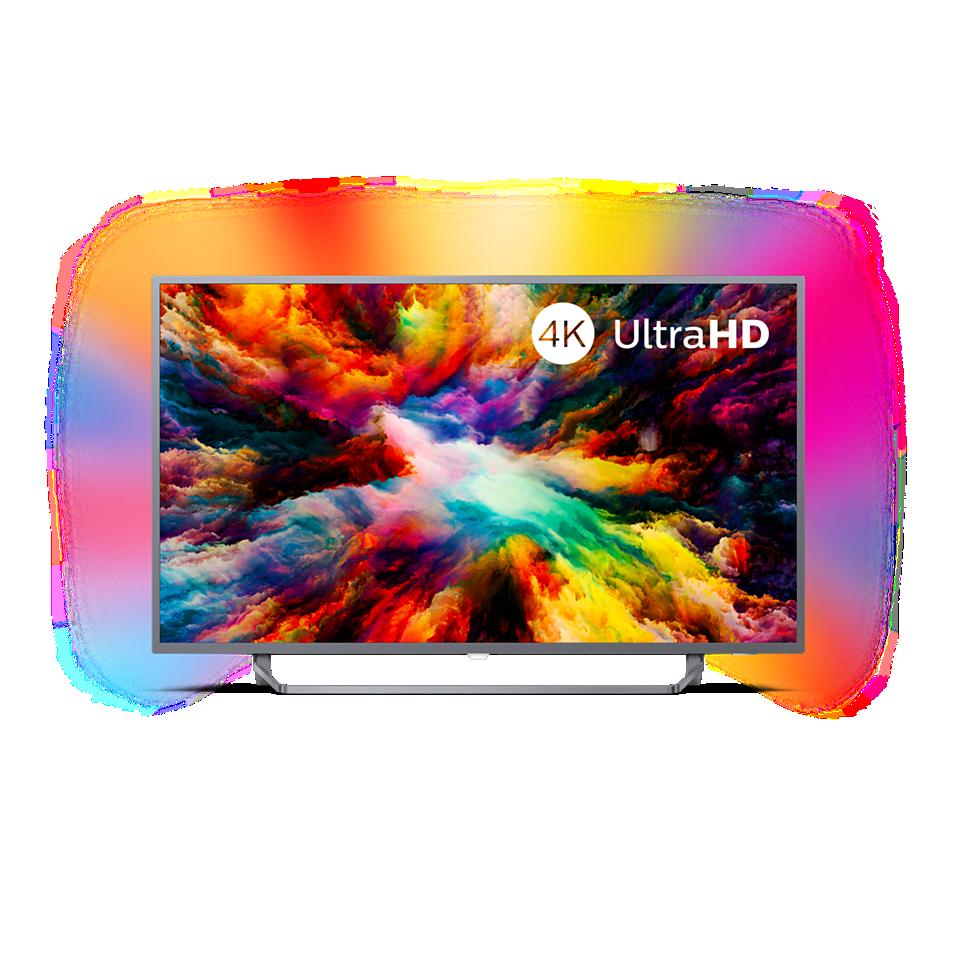 7300 series Téléviseur Android 4KUHD avec Ambilight 3côtés