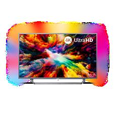 55PUS7303/12  TV 4K UHD Android z 3-stronnym systemem Ambilight