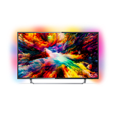 55PUS7373/12  Ultraflacher 4K UHD-LED-Android-Fernseher