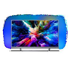 55PUS7503/12  Ultraflacher 4K UHD-LED-Android-Fernseher
