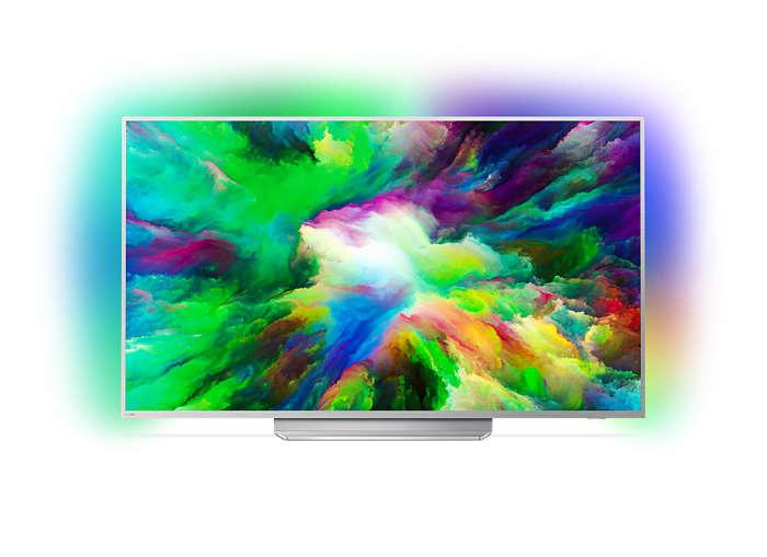 Ultraslanke 4K UHD LED Android TV