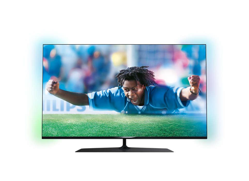 Ultraflacher Smart 4K Ultra HD-LED-Fernseher