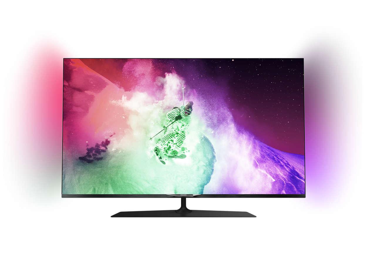 Εξαιρετικά λεπτή τηλεόραση UHD LED 4K με Android