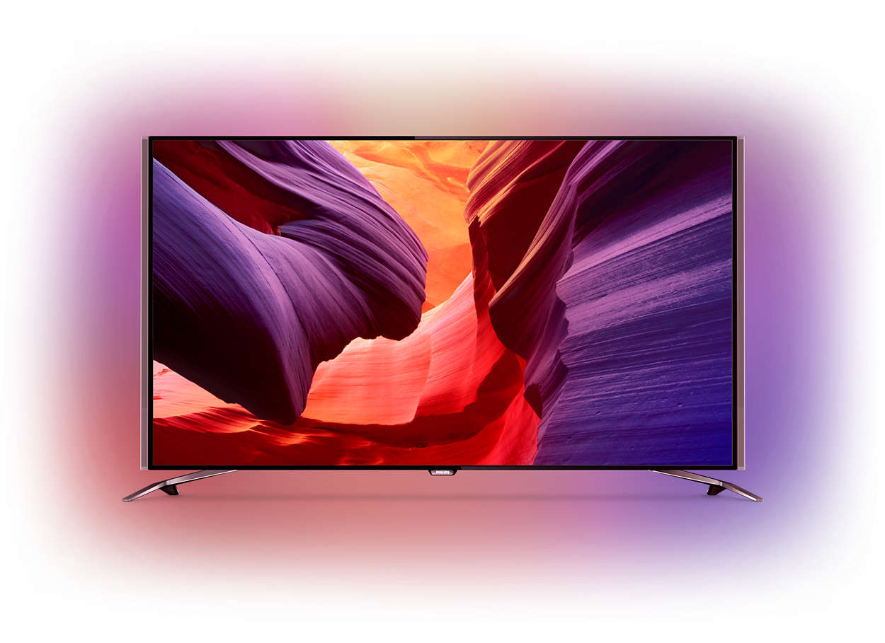 Ultratunn LED-TV med 4K UHD som drivs av Android