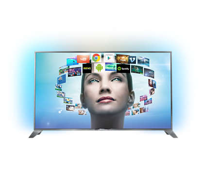 Ultraslanke 4K UHD-TV powered by Android